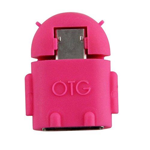 Android Roboter Micro USB 2.0?Host OTG Flash Disk Adapter Konverter (, Rosa, 2?St?ck