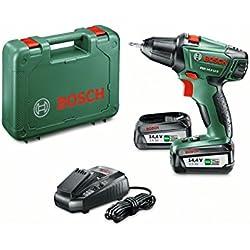 "Bosch Perceuse-visseuse ""Expert"" sans fil PSR 14,4 Li-2 coffret 2 batteries 14,4V 2,5 Ah, technologie Syneon 060397340P"