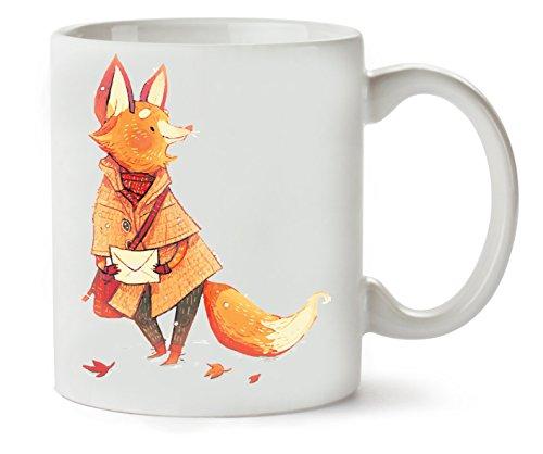 Messenger Fox Cute Klassische Teetasse Kaffeetasse (Überprüfen Messenger)
