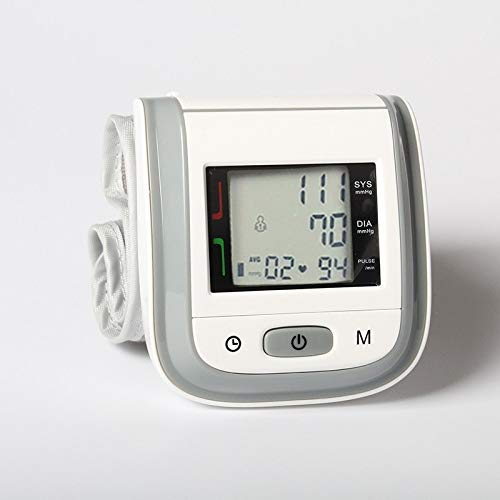 SDRFSWE Elektronische Mess Haushaltsdruck Automatische Hochpräzise Handgelenk Typ Blutdruckmessgerät Messinstrument Instrument Handgelenk Old Man,Gray -