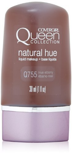 Covergirl Queen Collection (CoverGirl Queen Collection Liquid Makeup Foundation, True Ebony 755, 1.0-Ounce Bottles (Pack of 2) by COVERGIRL)