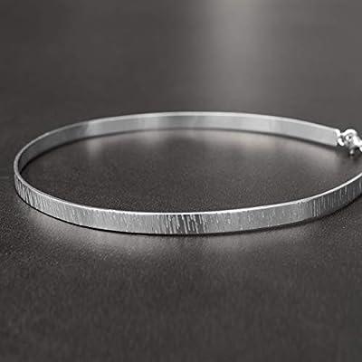 Collier minimaliste, collier de manchette, collier ras du cou en argent sterling, ras du cou de manchette, collier en argent, collier de mariée, collier de mariage
