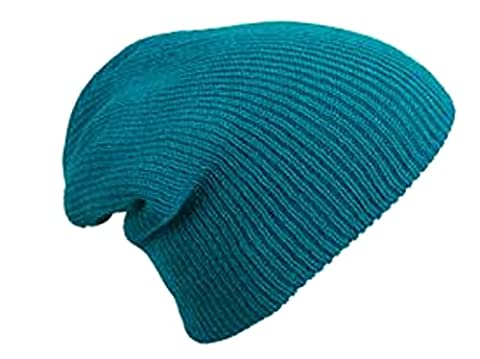 MB Oversized Baggy Fit Slouch Style Beanie Beany Cap - 6 New Colours (Petrol)