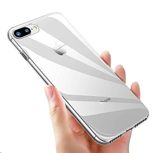 Coque iPhone 8 Plus,Coque iPhone 7 Plus, ikalula Housse Etui iPhone 8 Plus TPU Souple Bumper Case Shock-Absorption Anti-Scratch Crystal Coque De Protection Pour iPhone 7 Plus Cover - Crystal Clear
