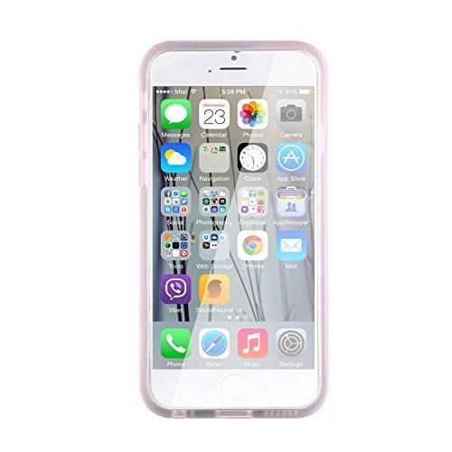 JAMMYLIZARD | Silikon Case Gel Hülle für iPhone 6 & 6s 4.7 Zoll, WEIß Perlen-Effekt HELLROSA