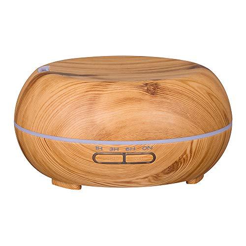 Humidificador Aromaterapia Ultrasónico,STRIR Difusor de Aceites Esenciales 400ml,Difusor Aroma de Vapor Frío con 7 Colores de LED y Auto-Apaga para Bebé Yoga Oficina (Amarillo)