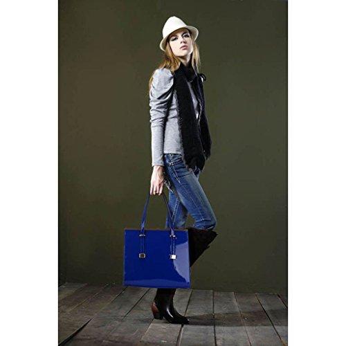 TrendStar Frauen Handtaschen Dame Schulter Schnappen Tote Entwerfer Taschen Kunstleder Blau