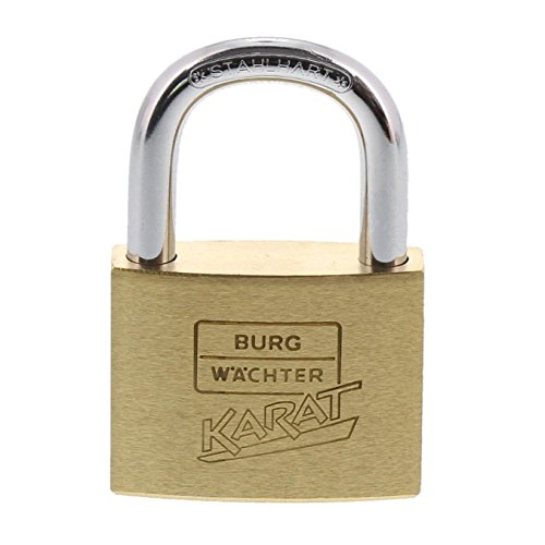 Preisvergleich Produktbild Burg-Wächter Karat 217 40 / 6 SB Zylinder-Vorhangschloss Bügelstärke: 6 mm,  Bügelhöhe: 23, 5 mm