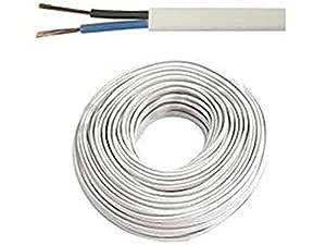 Cavo elettrico flessibile a sezione circolare con 4 fili bianco rotolo intero o tagli di diverse lunghezze disponibili