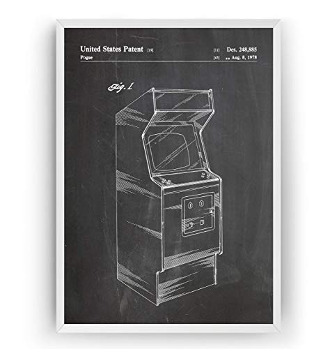 Arcade-Maschine Patent Poster - Jahrgang Drucke Drucken Bild Kunst Geschenke Zum Männer Frau Entwurf Dekor Vintage Art Blueprint Decor - Rahmen Nicht Enthalten (Video-arcade-maschinen)