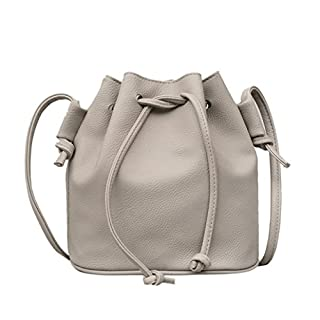 Handbag Shoulder Bag, Amlaiworld Fashion Women Leather Pure color Shoulder Bag Messenger Bag Purse Satchel (1PC, Gray)