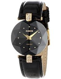 Jowissa J5.007.M - Reloj analógico de cuarzo para mujer con correa de piel, color negro