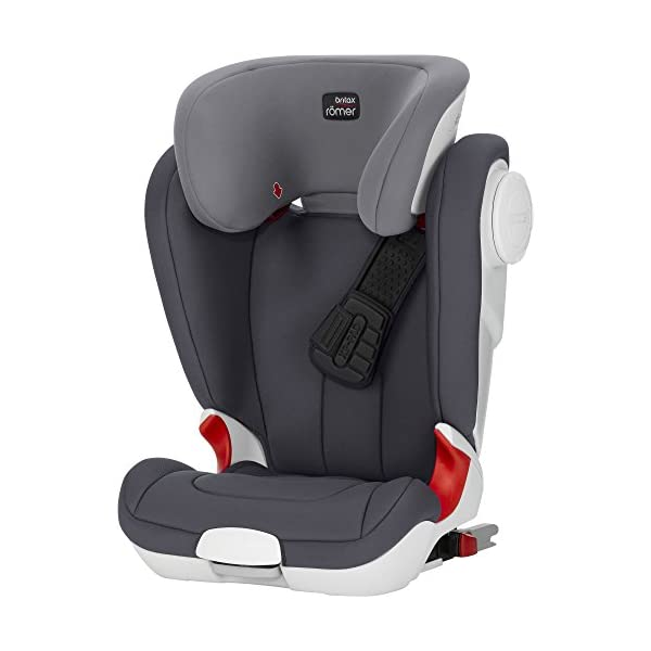 Britax Römer car seat Kidfix XP (SICT) Group 2/3. Britax Römer Front impact pad - XP, storm gray Shockproof side protection - MTS Codes High back for shock absorbing side protection and correct strap guide 7