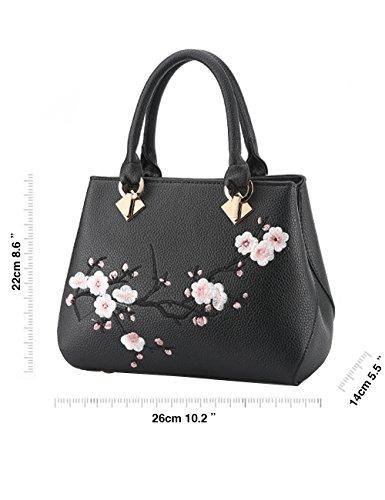 cfefd547474d8 ... Menschwear Damen Handtasche Marken Handtaschen Elegant Taschen Shopper  Reissverschluss Frauen Handtaschen Rosa Schwarz ...