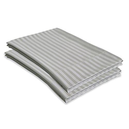 Echelon Home 800Ägyptische Stripe Standard Fällen [Paar], Zinn