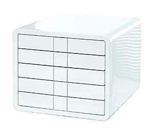 HAN 1551-12, Schubladenbox i-Box, Innovative und Designpreis ausgezeichnete Box in Premium Qualität. Mit 5 geschlossenen Schubladen, weiß
