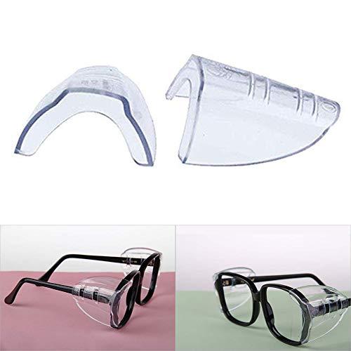 Danigrefinb Schutzbrille für Brillen, 2 Stück Sicherheitsbrillen, ungiftig, transparent, flexibel, Kunststoff