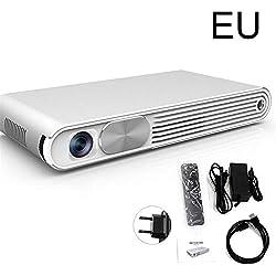 Tragbarer Projektor Mit 1080P DLP-Bild, Zwei Stereo-Lautsprechern, Unterstützung Für HDMI 3D, 30-300 '' Bildschirm, WiFi Intelligenter Tragbarer Bluetooth-WiF-Projektor Für Heimkino-Unterhaltung