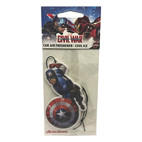 Price comparison product image Marvel Captain America Car Air Freshener - Cool Ice