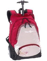 Mochila escolar con ruedas trolley BodyPack rosa buho