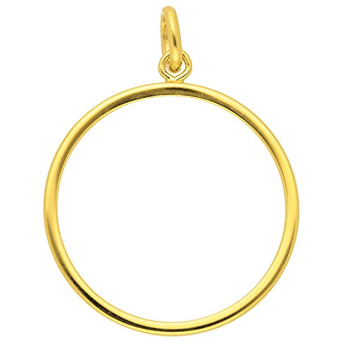 Gold Münzfassung 14 k 585 Gelbgold 16,5 Ø mm