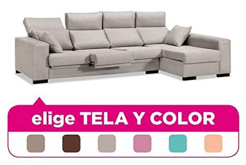 Muebles Baratos Sofa Chaise Longue, 4 plazas, Tapizado al Gusto, Subida Domicilio,...