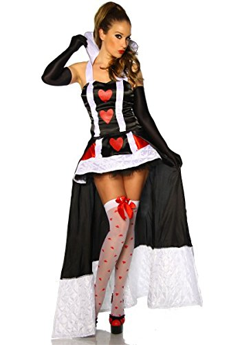 Alice Wunderland Kostüm Adult Im - Alice im Wunderland-Kostüm - schwarz/weiÃ?/rot - M-L