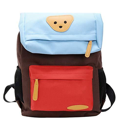 ❤Loveso❤ Unisex - Mädchen Jungen Kind Schulrucksack Rucksack Wanderrucksack für Kinder mit Breiten und BequeMen Gurten Nylon Wasserdicht Daypacks mit Bär Design -