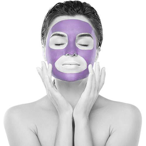 Gesichtsmaske aus Tonerde von MaskPro - 100% Natürlicher Kaolin mit Zwergseerose - Reinigung & Glättung, Anti Aging Maske, gegen Akne, Entfernung von Mitessern, Blackhead Remover(100ml)