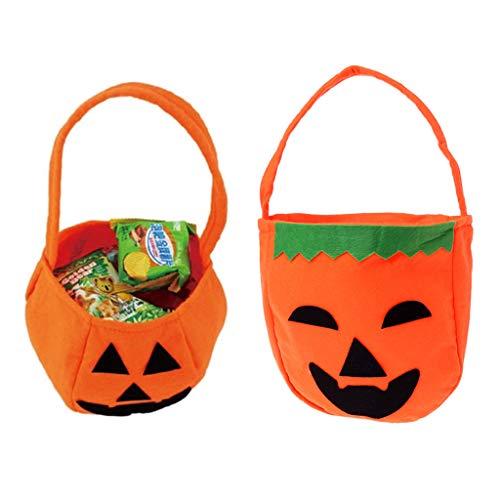 Yunso Halloween Kürbis Tasche Kinder Mini Süßigkeiten Tote Kinder Geschenke Süßigkeiten Taschen Handtaschen für Kinder oder Kostüm Party (A) (Kleine Mädchen Tote Halloween-kostüm)