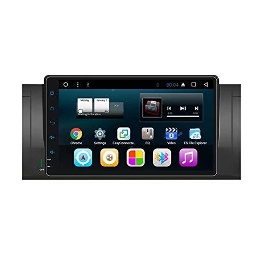 TOPNAVI 9 Pouces Quadri-Coeur Android 7.1 Voiture multimédia pour BMW E39 2003 2004 2005 2006 2007 2008 2009 2010 2011 GPS Navi Radio stéréo 1 Go de RAM 16 Go ROM WiFi 3G RDS BT Audio vidéo