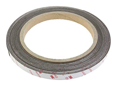 first4magnetsTM 12,7 mm breit x 0,85 mm Dicke Flexible Neodym-Magnet mit 3M Tape selbst Klebstoff (1m Länge), Plastik, Brown, 40 x 20 x 5 cm