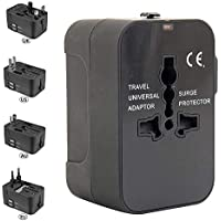 BOTTLEWISE Adaptador de Viaje con Doble Carga de Corriente AC Power Cargador de Pared Mundial Enchufable