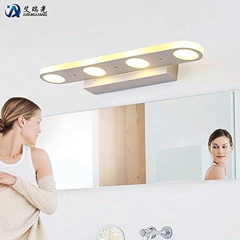 FUMIMID 18W LED specchio luci bagno bagno impermeabile e nebbia lampada da parete moderna è bellissimo specchio trucco 580 * 85 * 45 (mm)