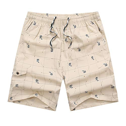 Herren Shorts Kurze Hose Schnell Trocknend Atmungsaktive Sporthose Taschen Männer Running Fitness Gym Sport Shorts,Baumwoll-Karomuster 1 4XL -
