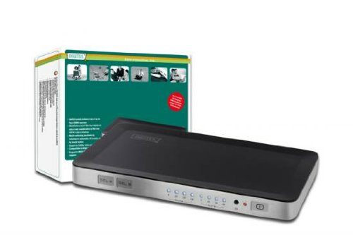 DIGITUS HDMI Video Matrix Splitter / Switch 4x2, 4-Port Eingang / 2-Port Ausgang, Unterstützt 1080i und 1080p Auflösung, 3D, HDCP, DTS, Dolby Digital 2-port Hdmi Splitter