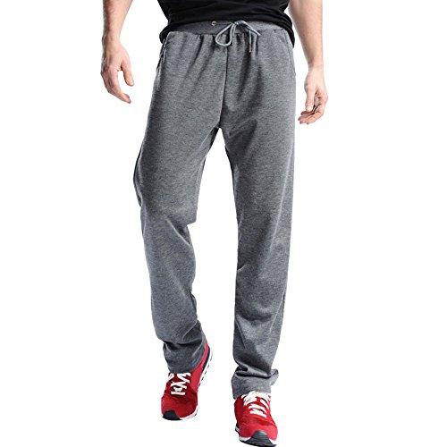 Cebbay Pantalons de Sport pour Hommes, Pantalons de survêtement Hip Hop Jogging Joggers, Respirant Confortable Pantalon Léger Automne Jogger Liquidation Pas Cher(Gris foncé,L)