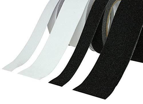 Antirutschband | Klebeband Rutschhemmend PVC | Schwarz oder Transparent, 25mm oder 50mm, 5M oder 10M Extra Grip -große Auswahl- (10M x 25mm, Schwarz)