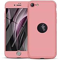 "FHXD Compatible con Funda iPhone 11 Pro(5.8"") Anti-Shock 360° Cubierta [Protector de Pantalla] Ultra Thin Anti-Scratch 3 in 1 Cáscara-Oro Rosa"