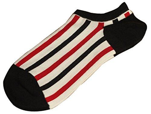 Lot de 2 Flag chaussettes en coton chaussettes pour hommes Blanc Gris Noir Roug