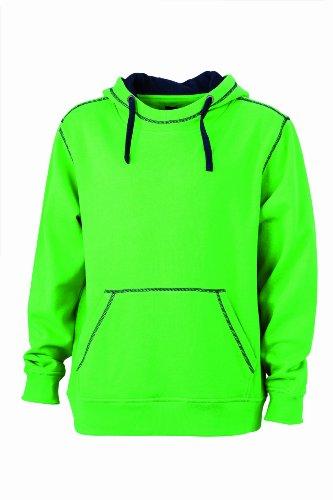 James & Nicholson Herren Sweatshirt Kapuzensweatshirt Men's Lifestyle Hoody Green/Navy