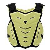 SunTime Motorrad Brustschutz, Brustschutz Racing Guard Weste mit Rückenschutz für Motocross Riding Skating Roller Skifahren (Beige)