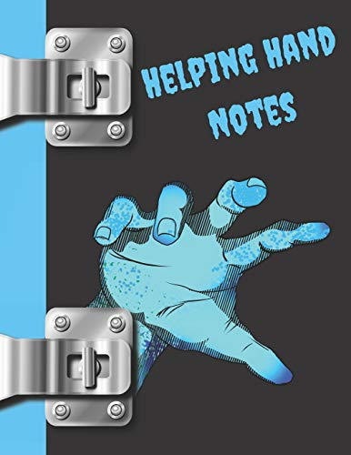 Helping Hand Notes: Zombie College Ruled Composition Writing Notebook