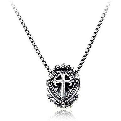 Y&XL&H Intime 925 croce d'argento corona collana donna