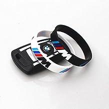 Pulsera silicona BMW M blanca negra coches motor motos verano (negra)