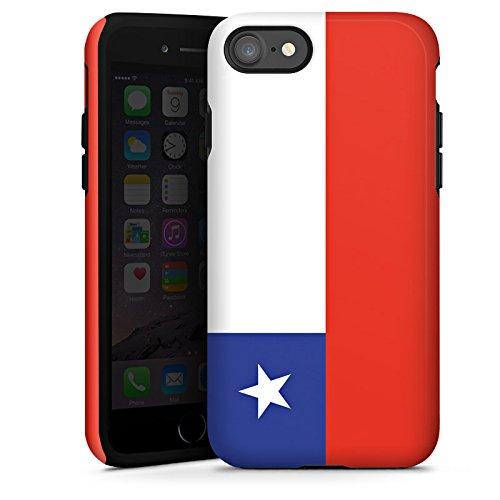 Apple iPhone X Silikon Hülle Case Schutzhülle Chile Flagge Fußball Tough Case glänzend