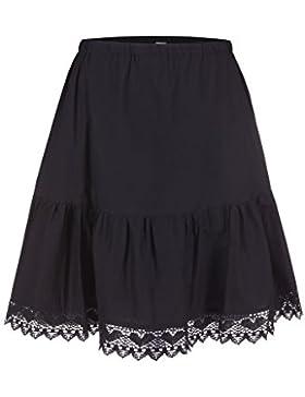 Steindl Trachten München-Salzburg Fondo de falda (enaguas) clásica con encaje en el dobladillo negro - 53cm (Mini...