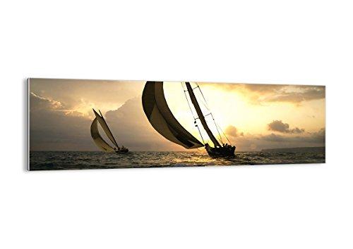 Bild auf Glas - Glasbilder - Einteilig - Breite: 160cm, Höhe: 50cm - Bildnummer 3158 - zum Aufhängen bereit - Bilder - Kunstdruck - GAB160x50-3158