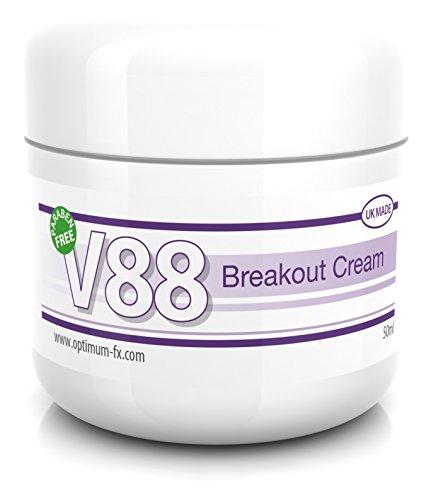 V88 Breakout Cream à l'Acide Salicylique Pour Boutons Points Noirs Imperfections et Problèmes de Peau SANS Parabène 50 Grammes