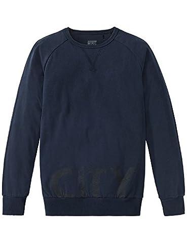 Schiesser Jungen Schlafanzugoberteil Mix & Relax Shirt 1/1 Blau (Nachtblau